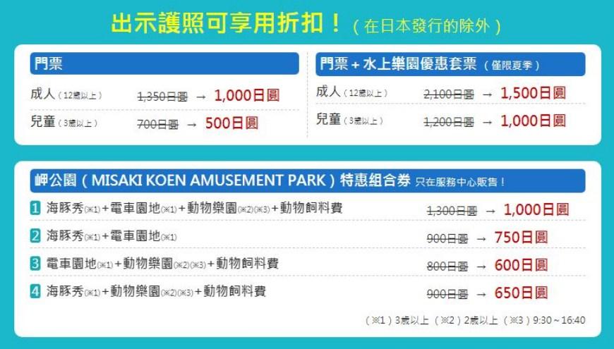 大阪近郊必去複合式動物遊樂園「岬公園」(みさき公園)超值票券說明