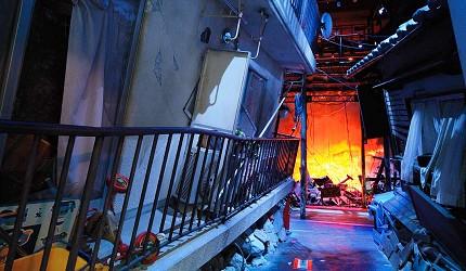 神戶親子寓教於樂景點推薦「人與防災未來中心」(人と防災未来センター)的災難重現場景