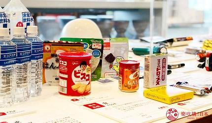 神戶親子寓教於樂景點推薦「人與防災未來中心」(人と防災未来センター)的救急應變物資