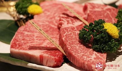 大阪心齋橋燒肉推薦必吃「黑毛和牛燒肉一」的牛肉