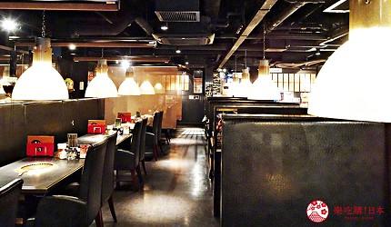 大阪心齋橋燒肉推薦必吃「黑毛和牛燒肉一」的一樓座位