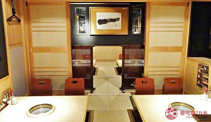 大阪心齋橋燒肉推薦必吃「黑毛和牛燒肉一」一樓和室座位