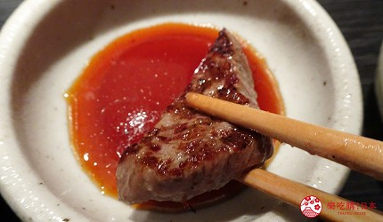 大阪心齋橋燒肉推薦必吃「黑毛和牛燒肉一」的特製沾醬