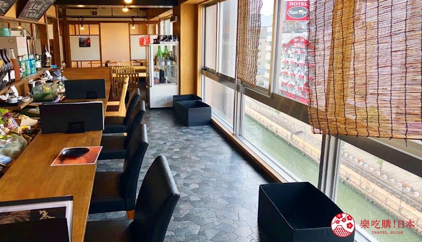 大阪難波海鮮大餐店家推薦「知床漁場 道頓堀店」的店內一景