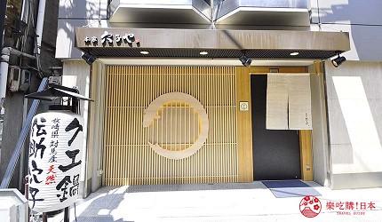 大阪心齋橋星鰻飯專賣店推薦「道頓堀穴子家」的店家外觀