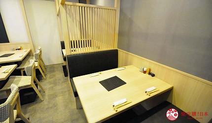 大阪心齋橋星鰻飯專賣店推薦「道頓堀穴子家」的店內用餐空間