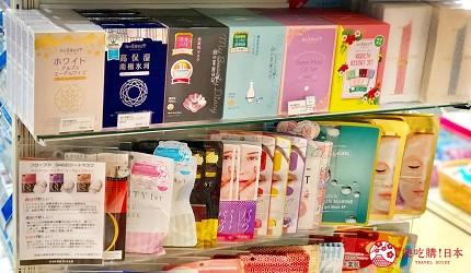 日本大阪難波車站內的「ekimo」的藥妝店「COLOR FiELD」販售的各式面膜