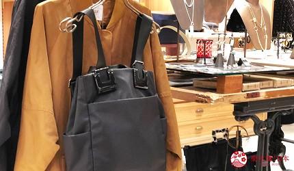 京都車站複合式商店街「The CUBE」地下二樓的時尚流行服飾ear(イア)的自家設計款的背包、托特包