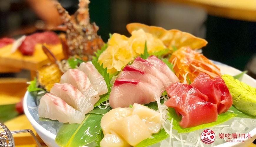 大阪裏難波「海千山千番長」的頂級海鮮拼盤組合(Premieum Seafood set)