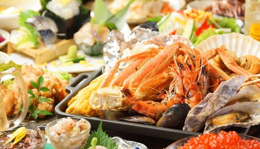 大阪難波「知床漁場 道頓堀店」北海道直送生蠔、螃蟹吃到飽只要3,480日圓起!