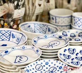 日本大阪難波車站內的「ekimo」的「Sirotan Friends park」販售的和風餐具