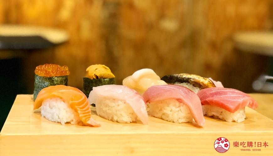 大阪裏難波「海千山千番長」的美味壽司組合