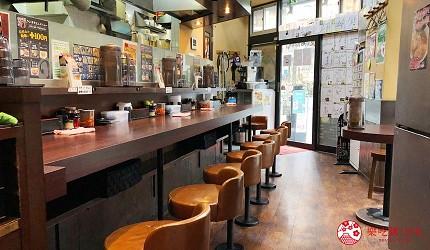 大阪難波香醇拉麵推薦「麵屋NORIO」的店內環境