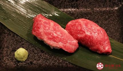 神戶A5最高級神戶牛必吃推薦「ステーキ仙」的神戶牛握壽司(神戸牛寿司)