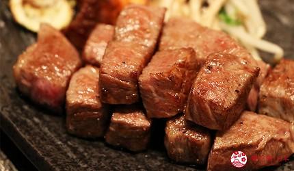 神戶A5最高級神戶牛必吃推薦「ステーキ仙」的特選稀有部位牛排(神戸牛特選希少部位ステーキ)油花多