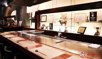 神戶A5最高級神戶牛必吃推薦「ステーキ仙」店內座位