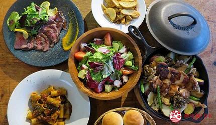 搭乘井原線到廣島福山市的歐式餐廳「3&1 KOKON」的套餐照片