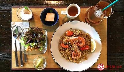 岡山桃太郎故鄉「總社市」的西班牙料理咖啡酒館「古民家カフェ krAck」的西班牙海鮮燉飯