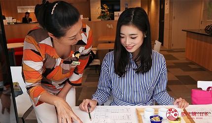 京都七條住宿推薦「HOTEL GLAD ONE 京都七條」提供的日本酒品酒體驗老師說明照片