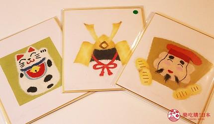 京都七條住宿推薦「HOTEL GLAD ONE 京都七條」提供的手撕和紙拼貼課程圖案豐富