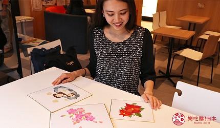 京都七條住宿推薦「HOTEL GLAD ONE 京都七條」提供的手撕和紙拼貼課程