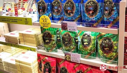 大阪必买人气伴手礼Marushige「唿吸巧克力」关西机场也买得到的「万-YOROZU-」店内唿吸巧克力商品照