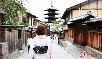 京都清水寺二年坂附近美景