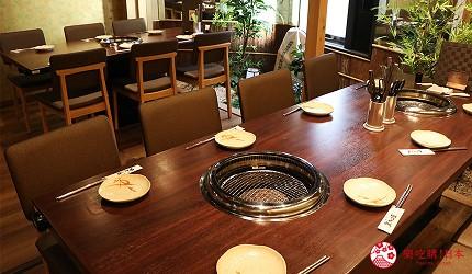 大阪推薦必吃的和牛燒肉店「黒べこ屋 裏難波店」店內四樓空間