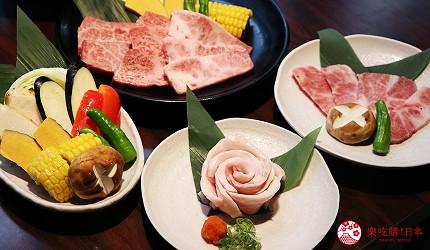 大阪推薦必吃的和牛燒肉店「黒べこ屋 裏難波店」的「極上和牛吃到飽」套餐