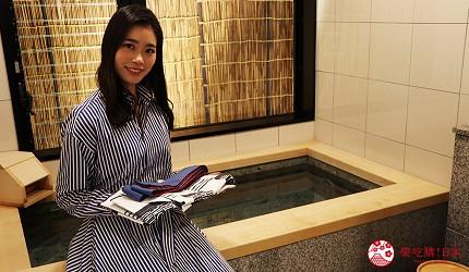 京都七條住宿推薦「HOTEL GLAD ONE 京都七條」的一樓私人湯屋