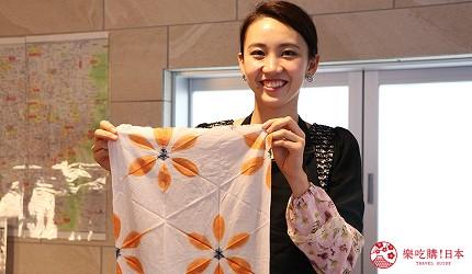 京都七條住宿推薦「HOTEL GLAD ONE 京都七條」提供的泥染布體驗的成品