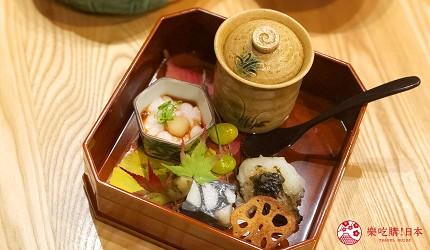 日本「淡路島」環島一日遊景點推薦!餐廳「IKOI Japanese Cuisine」的前菜料理