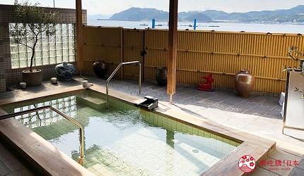 日本「淡路島」環島一日遊景點推薦!南淡路市住宿推薦「淡路島海上飯店」(淡路島海上ホテル)的露天溫泉