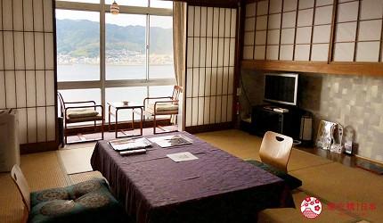 日本「淡路島」環島一日遊景點推薦!南淡路市住宿推薦「淡路島海上飯店」(淡路島海上ホテル)的和室房型