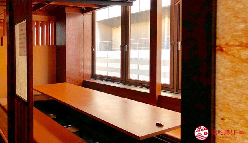 大阪難波人氣推薦名店「蟹しぐれ」的用餐空間環境