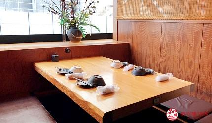 大阪難波人氣推薦名店「蟹しぐれ」的用餐包廂