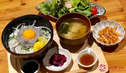 日本「淡路島」環島一日遊景點推薦!洲本市美食推薦「食香房 とうじ」的生魩仔魚套餐