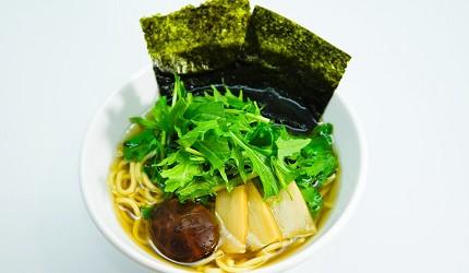京都車站前購物推薦:京都塔商場「KYOTO TOWER SANDO」的B1F FOOD HALL美食大街的「VEGE DELI かんな」的素食拉麵