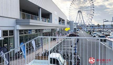 大阪推薦機車部品電單車用品店「Bike World」從關西空港站過去步驟四