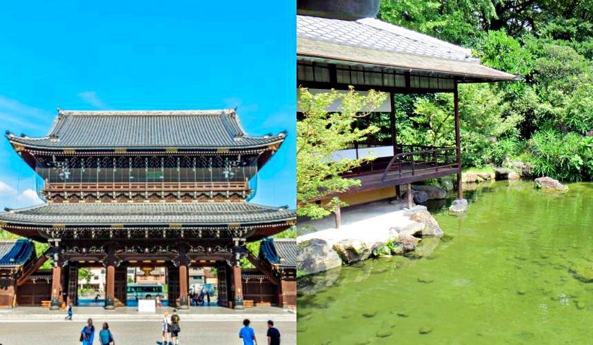 京都七條住宿推薦「HOTEL GLAD ONE 京都七條」附近的涉成園、東本願寺