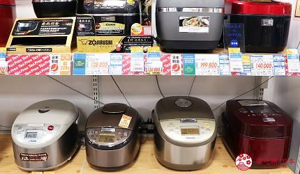 大阪道頓堀電器行推薦「愛電王」店內販售的日本電飯多種類多元