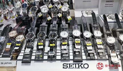 大阪道頓堀電器行推薦「愛電王」店內手錶專區的男錶