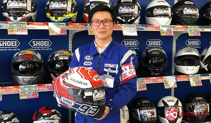 大阪推薦機車部品電單車用品店「Bike World」內會中文與英文的店員