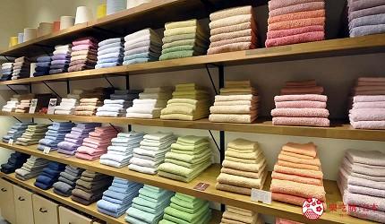 大阪難波購物商場推薦「難波SkyO」的毛巾專門店「HIORIE 日織惠」