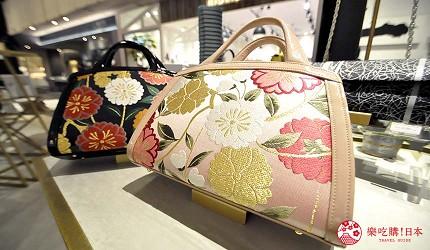 大阪難波購物商場推薦「難波SkyO」的職人手工包包配件店家「IWASA 岩佐」的京都櫻花手提包
