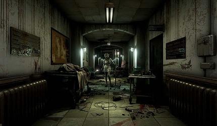 大阪梅田VR虛擬實境遊樂場「VR ZONE OSAKA」的遊戲逃脫廢棄醫院(ホラー実体験室 脱出病棟Ω)的虛擬實境畫面
