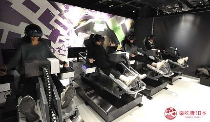 大阪梅田VR虛擬實境遊樂場「VR ZONE OSAKA」的遊戲新世紀福音戰士(エヴァンゲリオンVR The魂の座:暴走)遊玩中