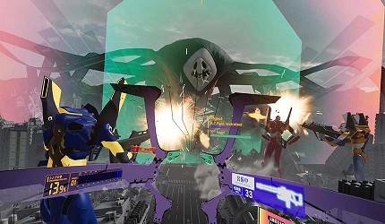 大阪梅田VR虛擬實境遊樂場「VR ZONE OSAKA」的遊戲新世紀福音戰士(エヴァンゲリオンVR The魂の座:暴走)的虛擬實境畫面
