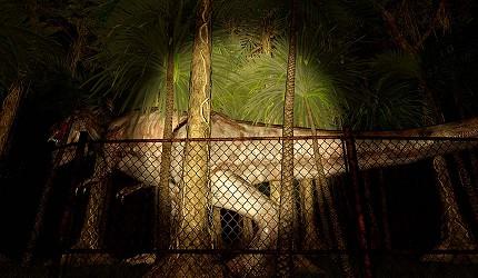 大阪梅田VR虛擬實境遊樂場「VR ZONE OSAKA」的遊戲「恐龍・倖存逃亡 絕望叢林」(恐竜サバイバル体験 絶望ジャングル)的虛擬實境畫面