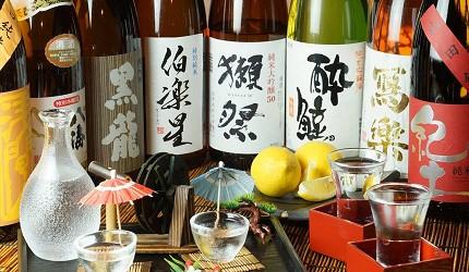 大阪難波吃米其林推薦的星鰻飯!「穴子家 NORESORE 難波店」的各種日本酒